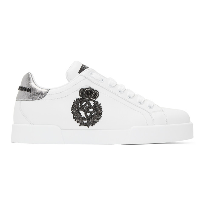 Dolce & Gabbana White Crest Sneakers