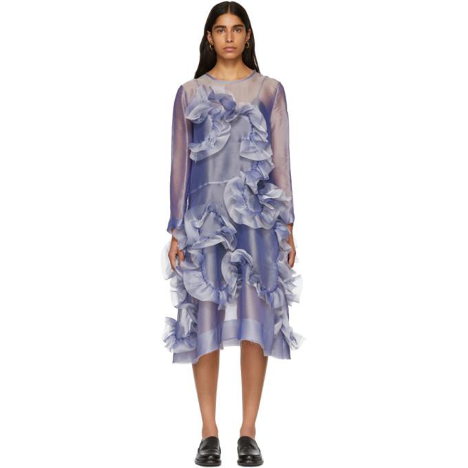 ROBERTS WOOD Roberts | Wood Purple Handlinked Wave Sheer Dress