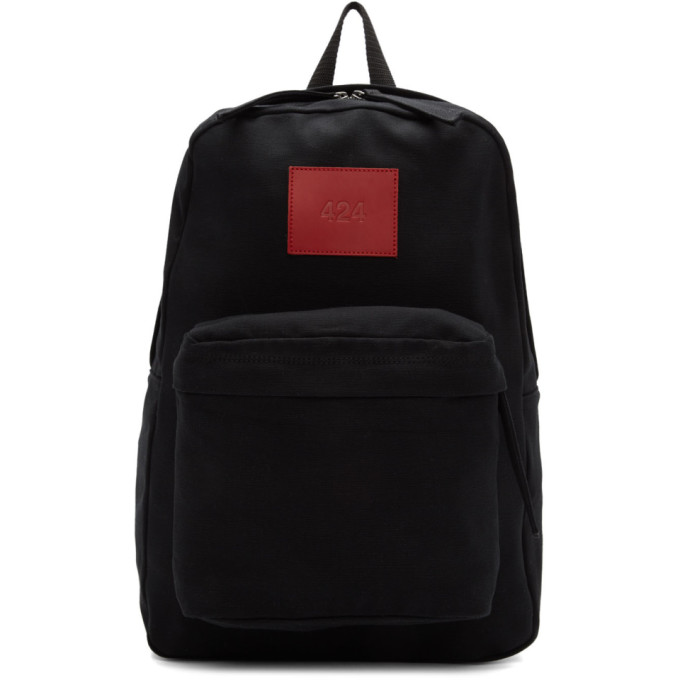 Image of 424 Black Canvas Backpack