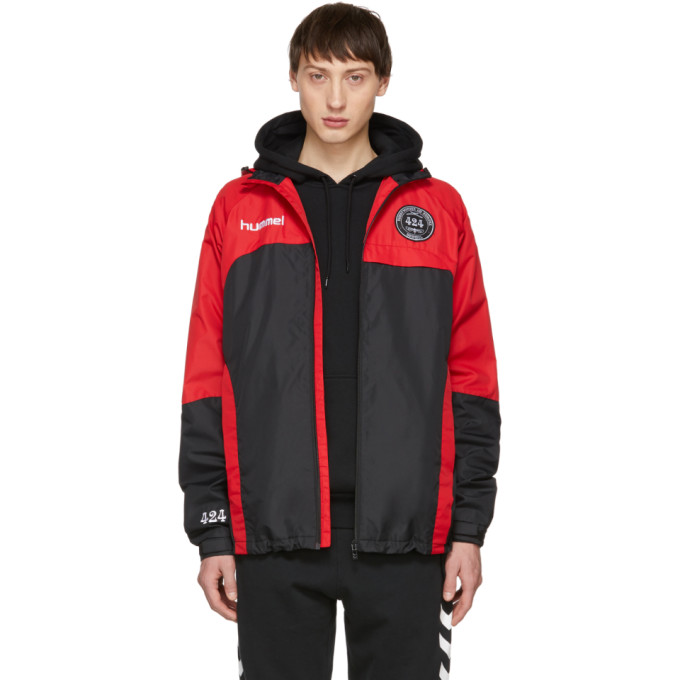 Image of 424 Black & Red Hummel Edition Daddy Micro Zip Jacket