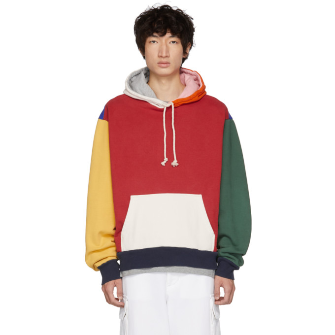 Image of 424 Multicolor Colorblocked Oversized Hoodie
