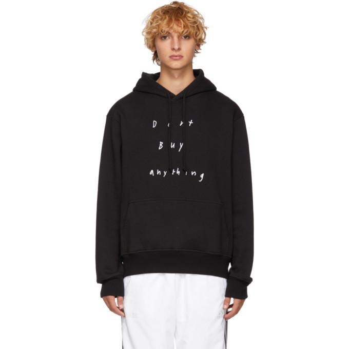 424 Black Dont Buy Anything Hoodie