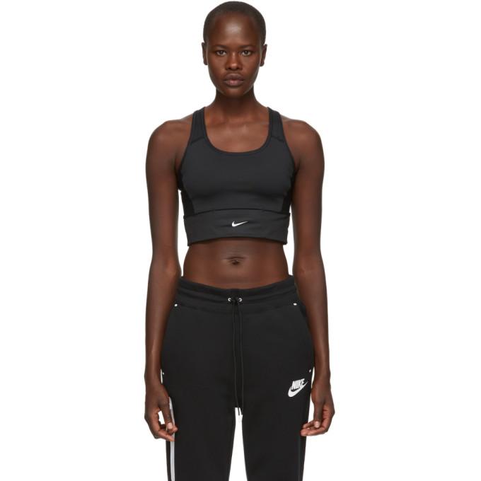 Nike Black Swoosh Pocket Bra