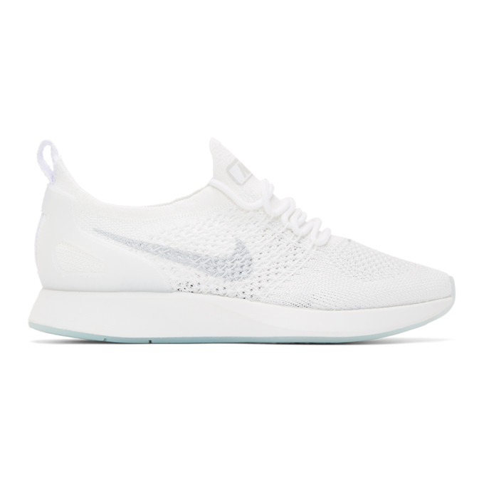 Nike White & Grey Zoom Air Mariah FK Racer