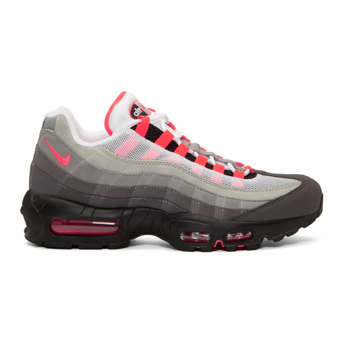 Nike Grey & Pink Air Max 95 OG Sneakers