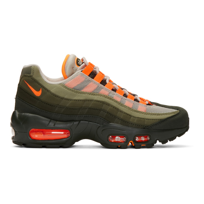 Nike Green & Orange Air Max '95 OG Sneakers