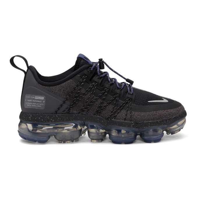 Women'S Air Vapormax Run Utility Running Shoes, Black in 001 Blk/Sil