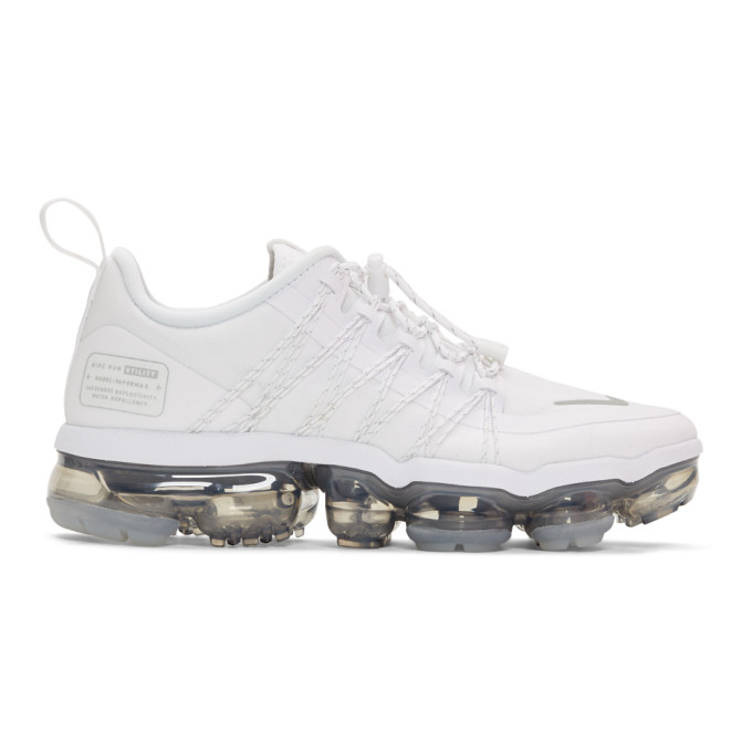 new style b9d24 3ed6b Nike White Air VaporMax Run Utility Sneakers