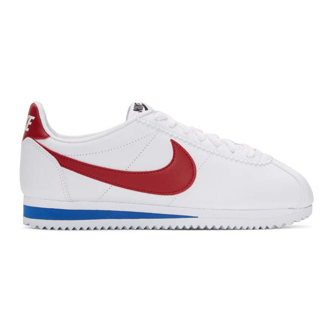 35f9a27052cc Nike White Leather Classic Cortez Sneakers