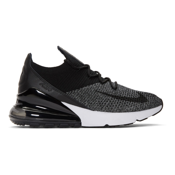 Nike Black & White Air Max 270 Flyknit Sneakers