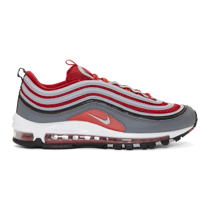 Nike Red & Grey Air Max 97 Sneakers