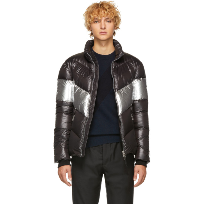 Mackage MACKAGE BLACK AND SILVER DOWN LUSTROUS GREG JACKET
