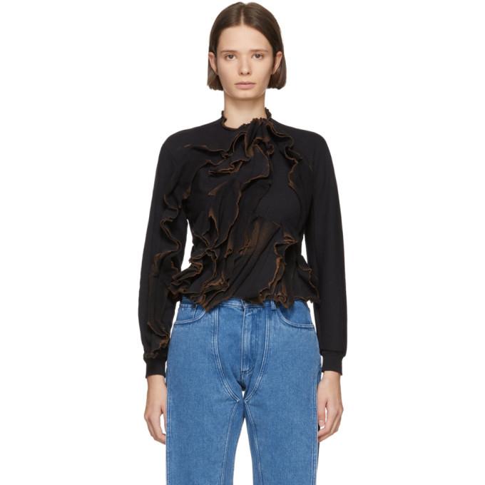 OTTOLINGER Ottolinger Ssense Exclusive Black Burned Lines Sweatshirt