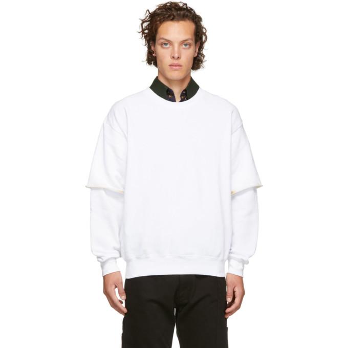 OTTOLINGER Ottolinger Double Layered Burned Sweatshirt - White