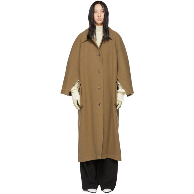 A.W.A.K.E. Tan Open Raglan Sleeve Coat, Butterscotc