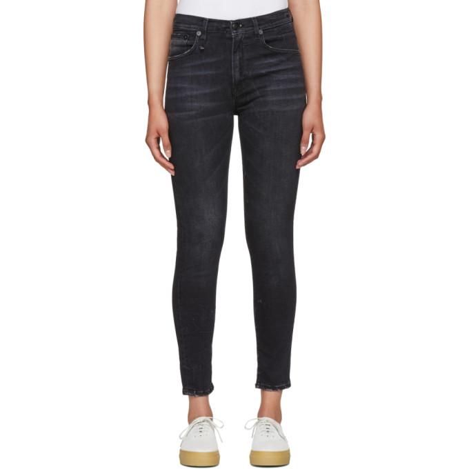 R13 Black High Rise Skinny Jeans