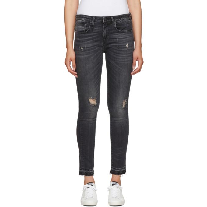 R13 Black Alison Skinny Jeans