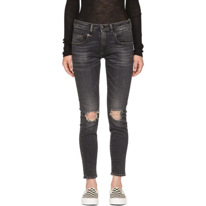 R13 Black Boy Skinny Jeans