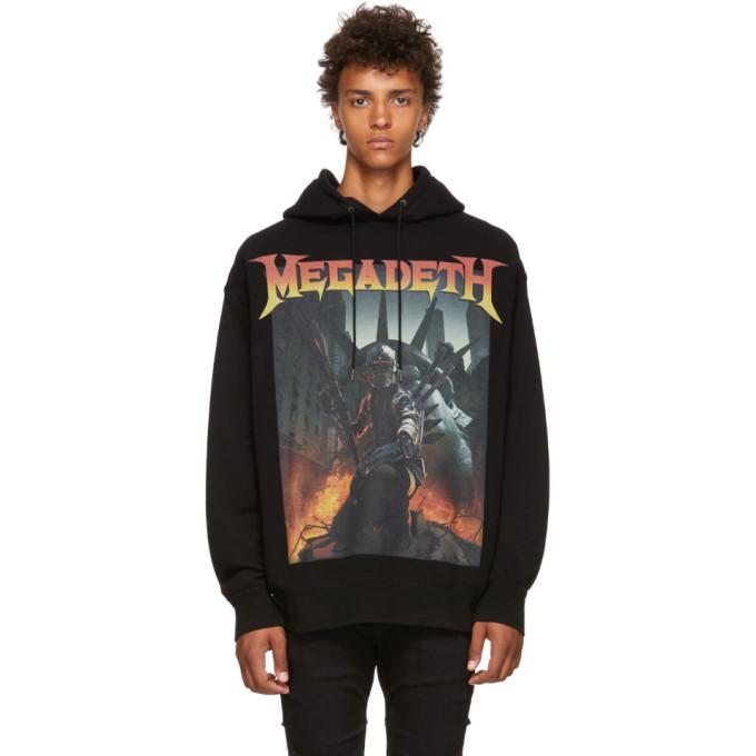 R13 ブラック Megadeth Fatalbot フーディ