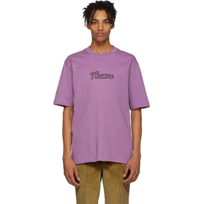 THAMES Thames Purple Logo T-Shirt in Lilac