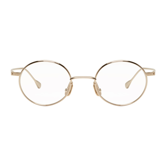 Image of Native Sons Gold Round Orbit Glasses