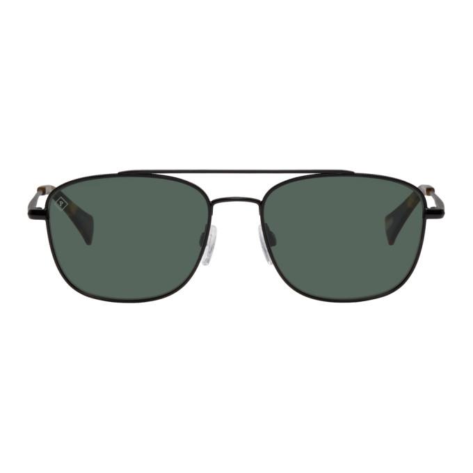 Image of RAEN Black Barolo Aviator Sunglasses