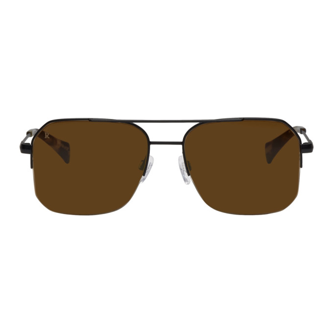 Image of RAEN Black Munroe Aviator Sunglasses