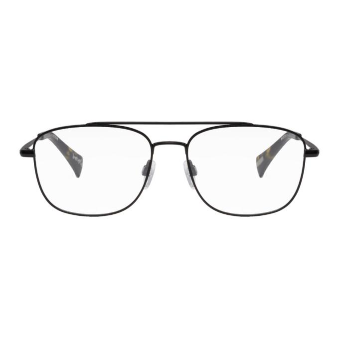 Image of RAEN Black Barolo Aviator Glasses