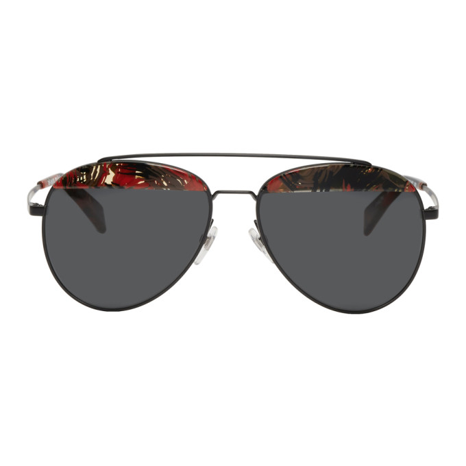 d5aa3fbc8c Oliver Peoples Alain Mikli Paris Black And Red Paon Sunglasses In  013 87Palmi