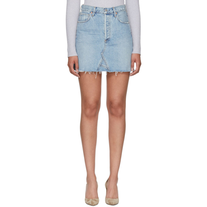 Image of Citizens of Humanity Blue Astrid Miniskirt