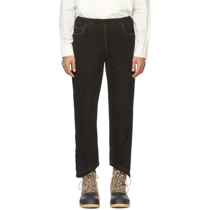 Image of St-Henri SSENSE Exclusive Black Rock Elastic Jeans
