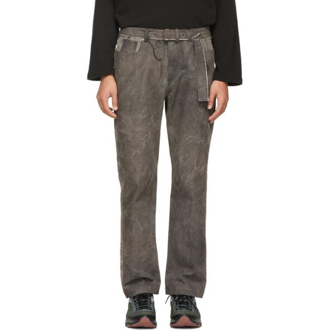 Image of St-Henri SSENSE Exclusive Grey & Black Garage Jeans
