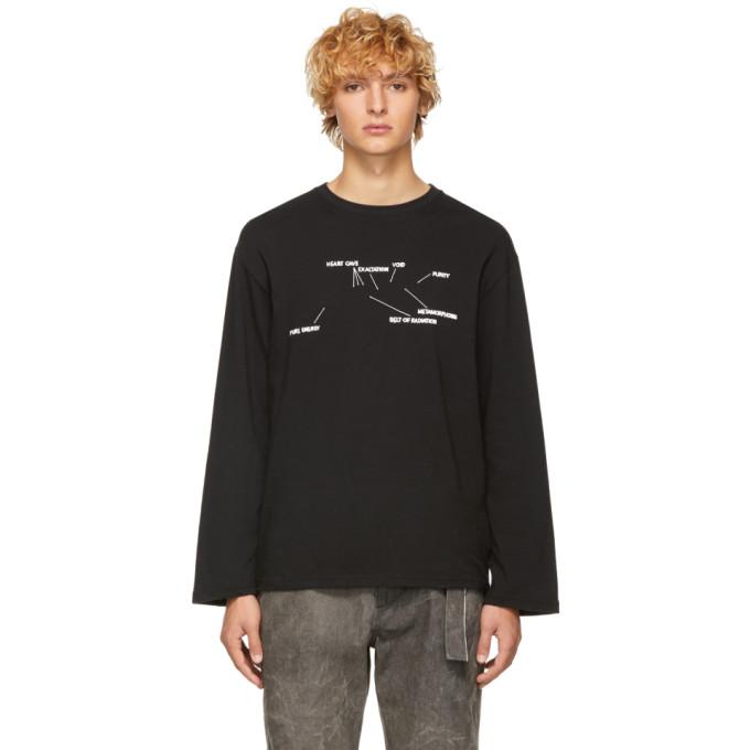 Image of St-Henri SSENSE Exclusive Black Engine Long Sleeve T-Shirt