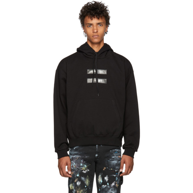 Image of Doublet Black 'No Image' Lenticular Hoodie