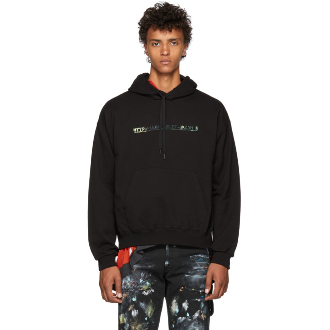 Image of Doublet Black 404 Spangle Embroidery Hoodie