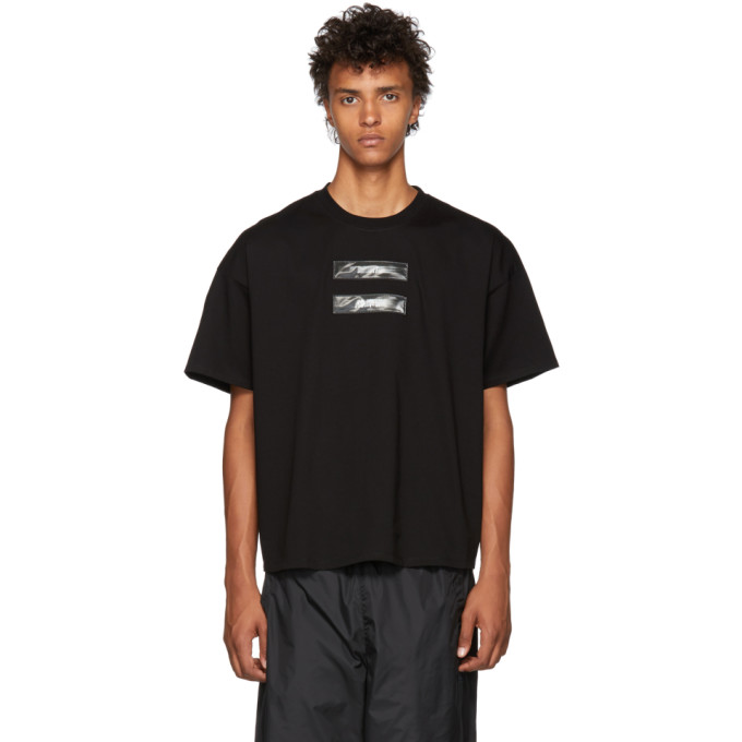 Image of Doublet Black 'No Image' Lenticular T-Shirt