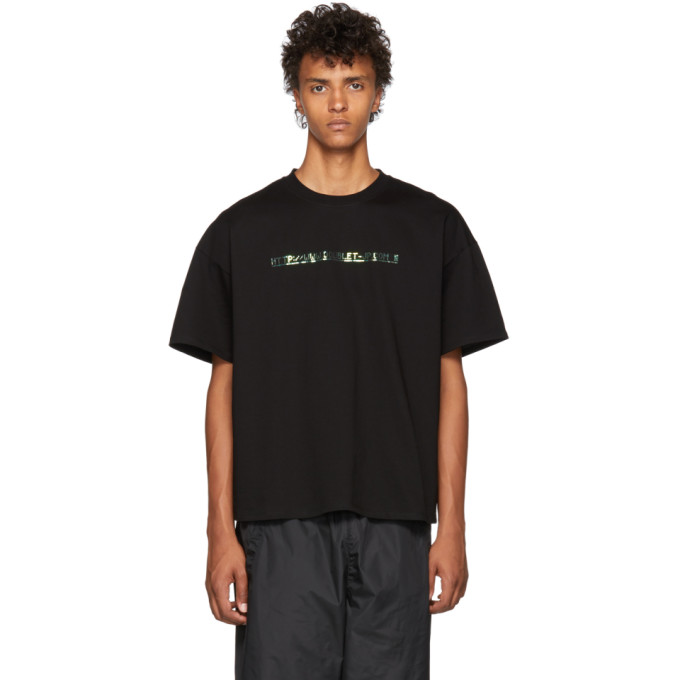 Image of Doublet Black 404 Spangle Embroidery T-Shirt