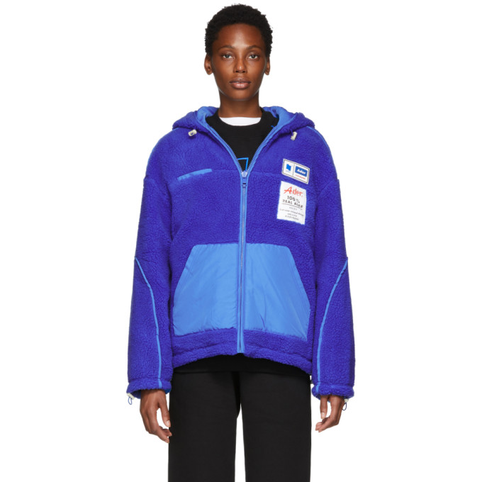 ADER ERROR Ader Erro Fleece Bomber Style Jacket in Blue