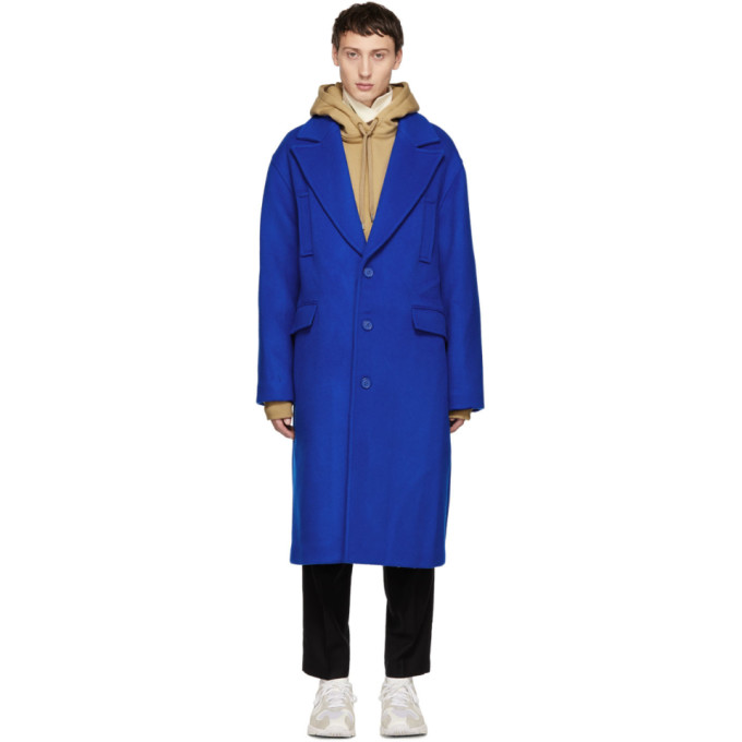 ADER error SSENSE 限定 ブルー ベーシック シングル コート