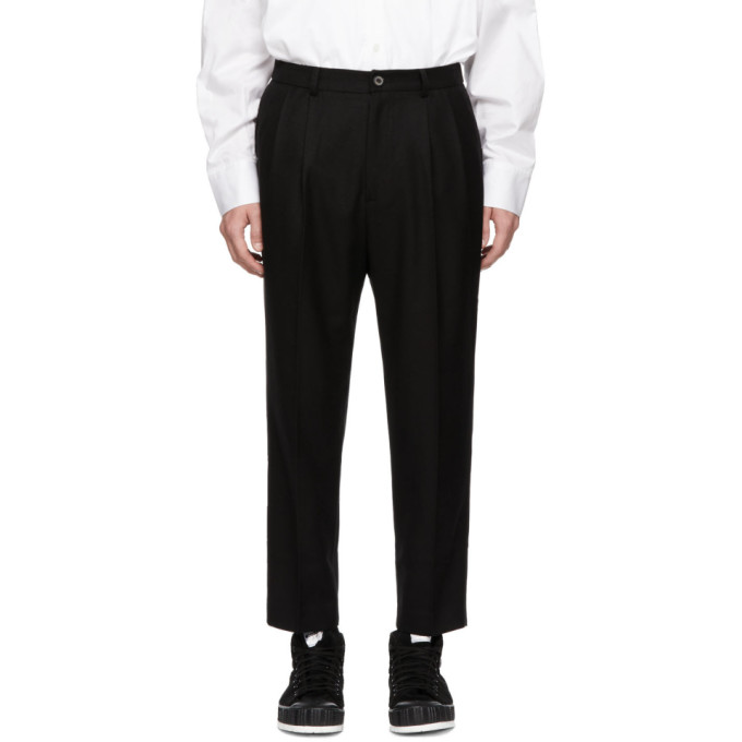 ADER ERROR Cropped Trousers in Black