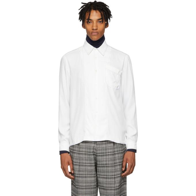 Daniel W. Fletcher Chemise a coutures contrastantes blanche