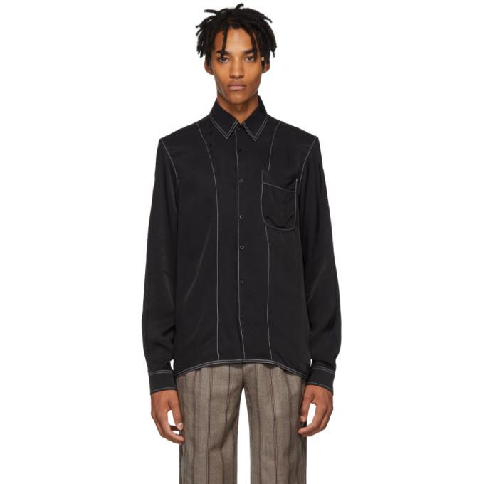 Daniel W. Fletcher Chemise a coutures contrastantes noire