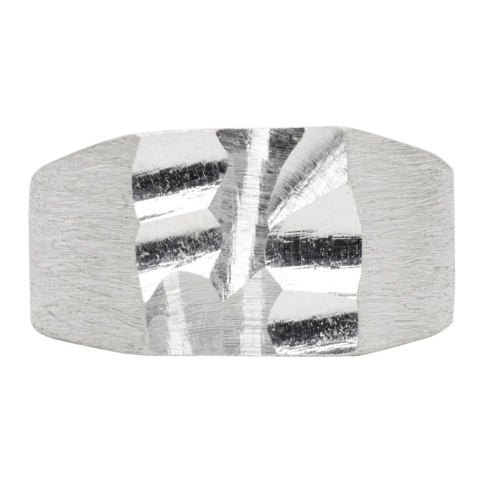 Image of All Blues Silver Carved Ring