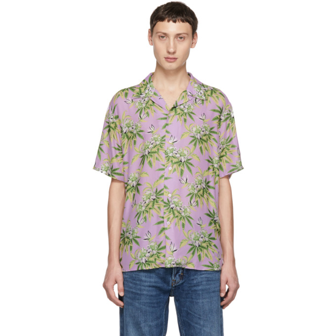 SSS World Corp Chemise mauve Weed Hibiscus