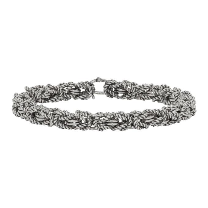Image of Ugo Cacciatori Silver Byzantine Bracelet