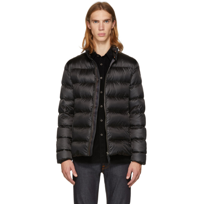 Image of Parajumpers Black Sheen Dillon Jacket
