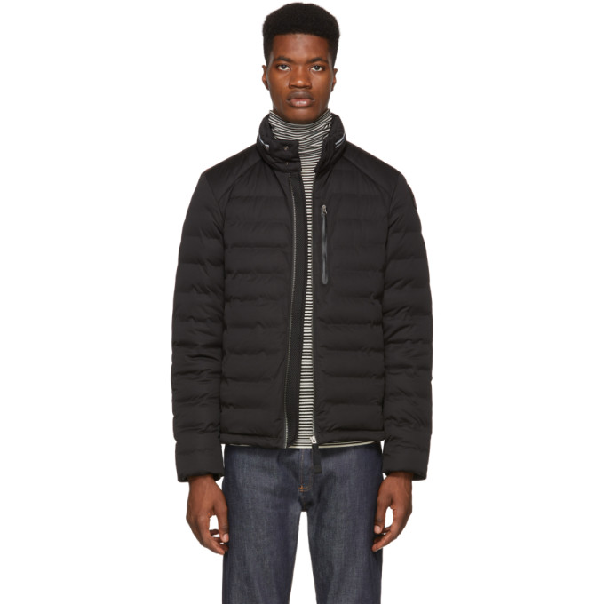 Image of Parajumpers Black Down Sleek Puffer Orson Jacket