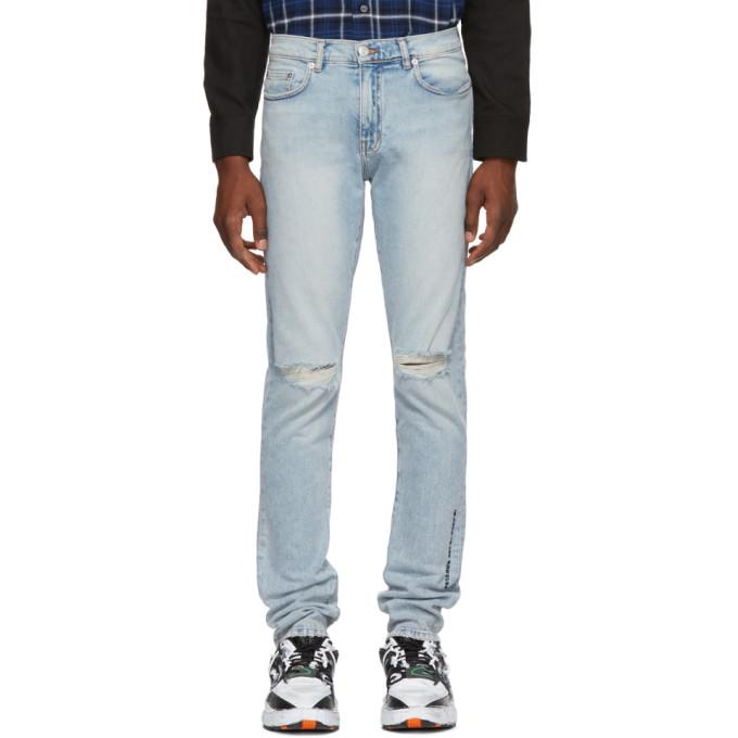 Adaptation Blue Slim Ripped Skinny Jeans