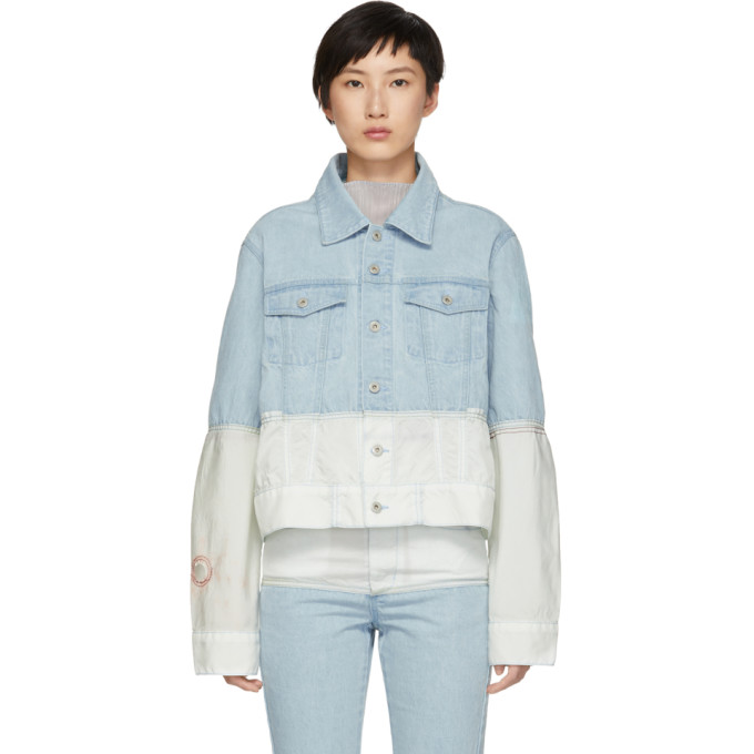 low priced 56df5 a21fa Kanghyuk Blue and Off-White Airbag Denim Jacket