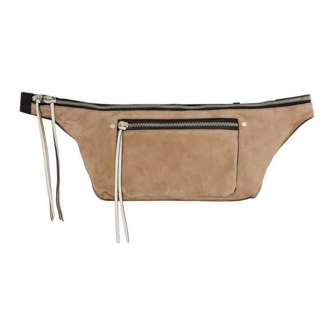 Rag & Bone Pink Suede Large Elliot Fanny Pack